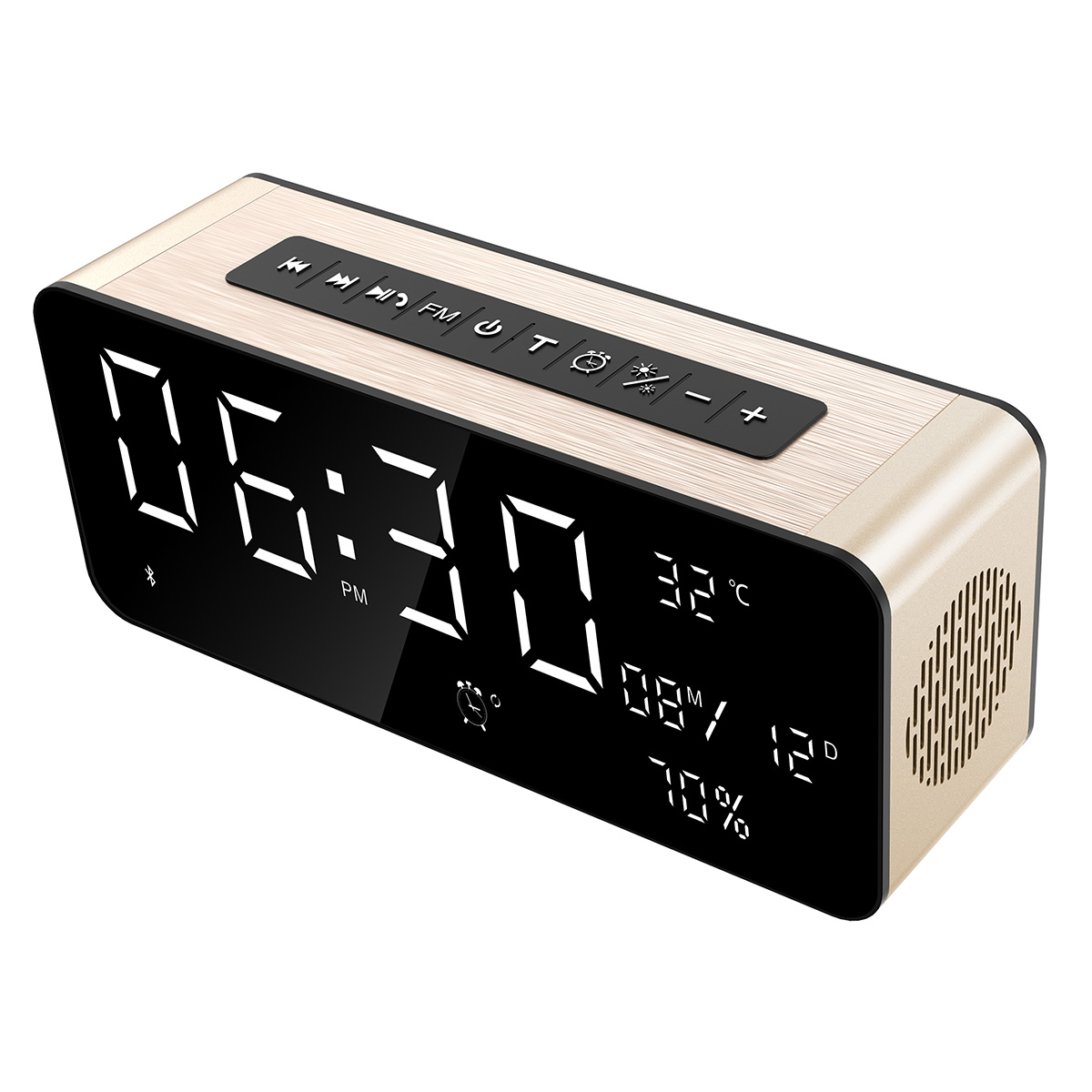 98723d9149f 12W Bluetooth speaker with alarm clock and temperature-蓝牙音箱 ...