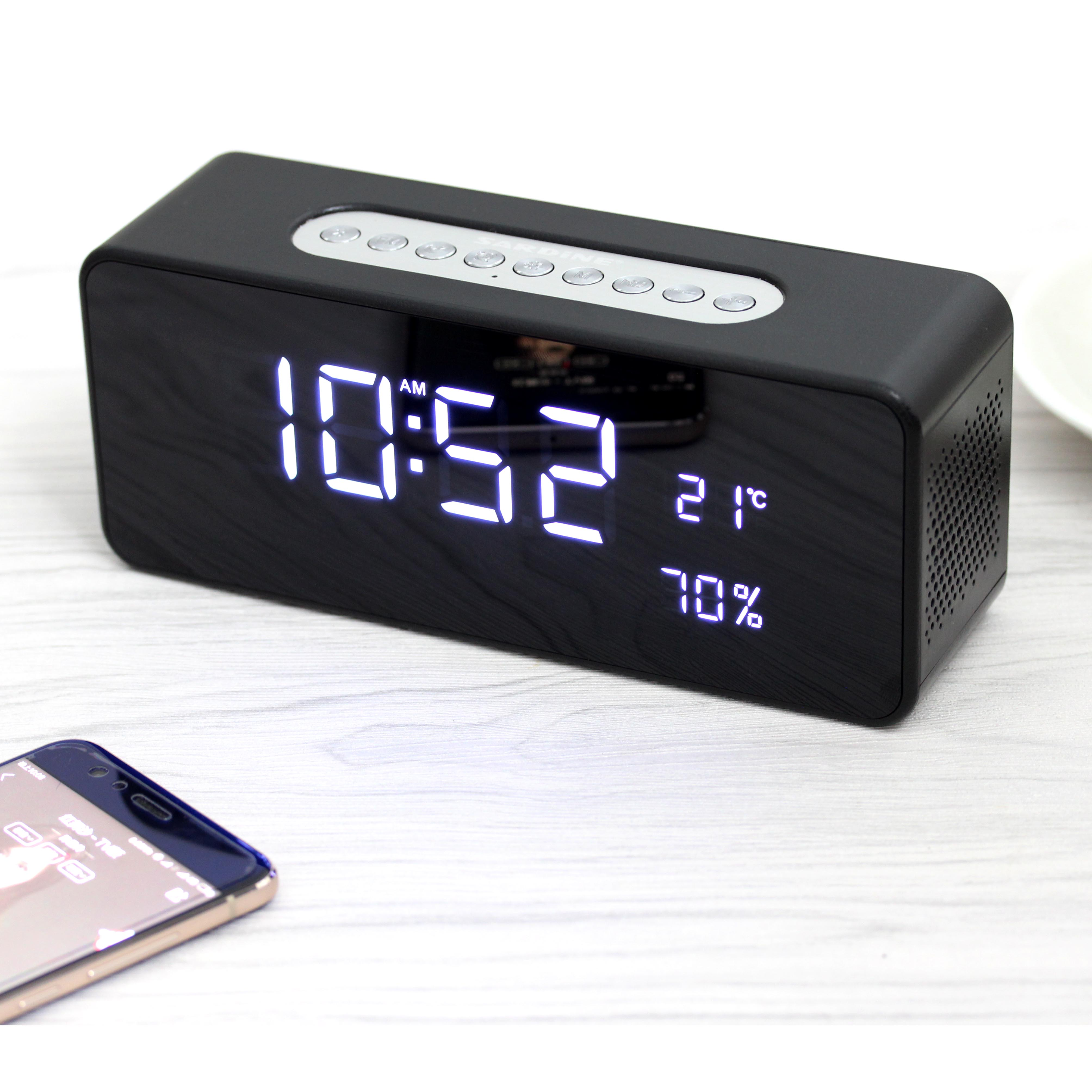 1f34e1a9368 S1 Bluetooth Speaker with alarm clock and temperature-蓝牙音箱 ...
